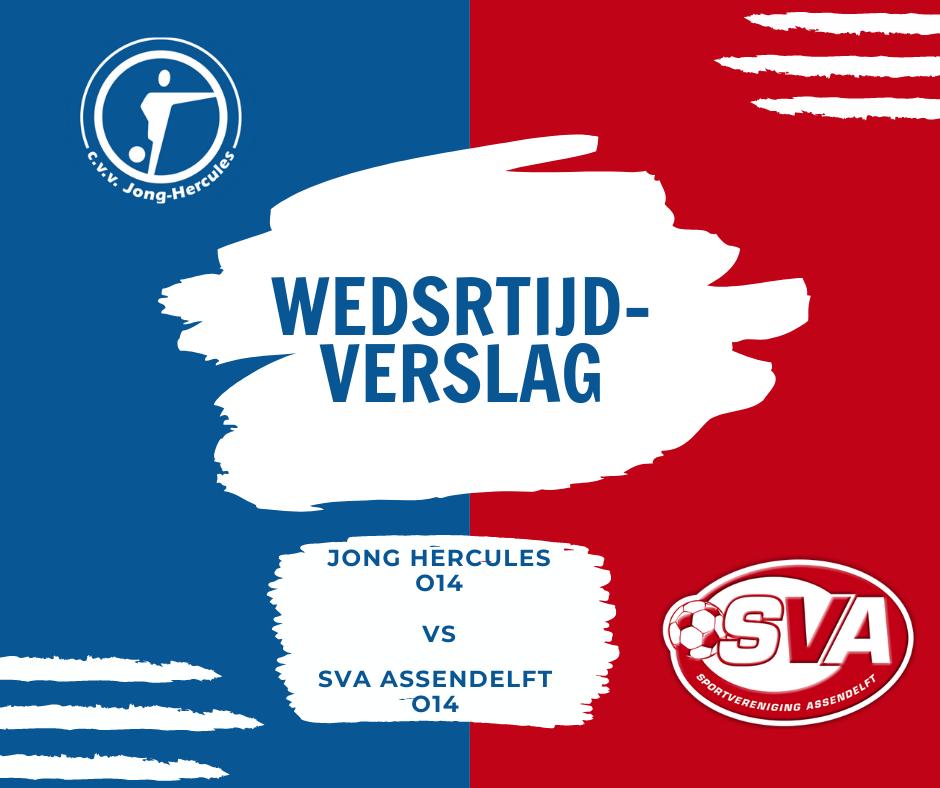 Wedstrijdverslag Jong Hercules O14/1 tegen SVA O14/1
